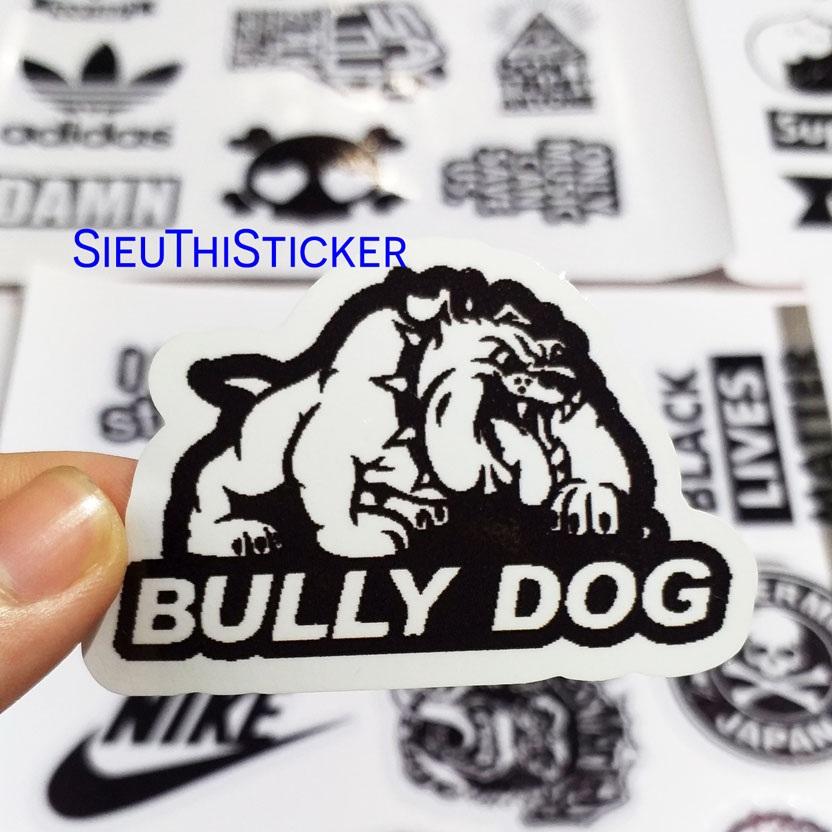sticker đen trắng mix nhiều hình dễ thương