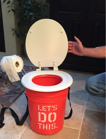 Clever Use Of A Home Depot Bucket And Inexpensive Toilet Seat To Bring Creature Comforts Camping Trip