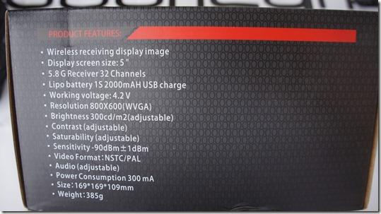KDS Kylin Vision FPV 5.8 Ghz Googles 5