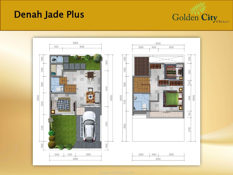 Denah Rumah Jade Plus Cluster Diamond Golden City Bekasi