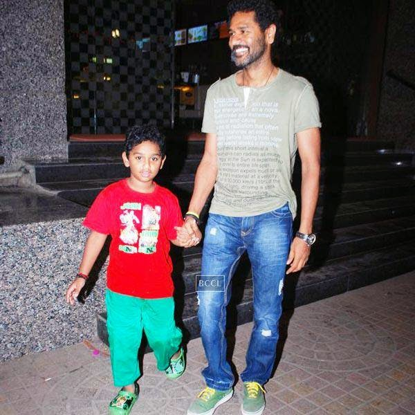 Prabhu Deva is seen here with his son from his estranged partner Latha.