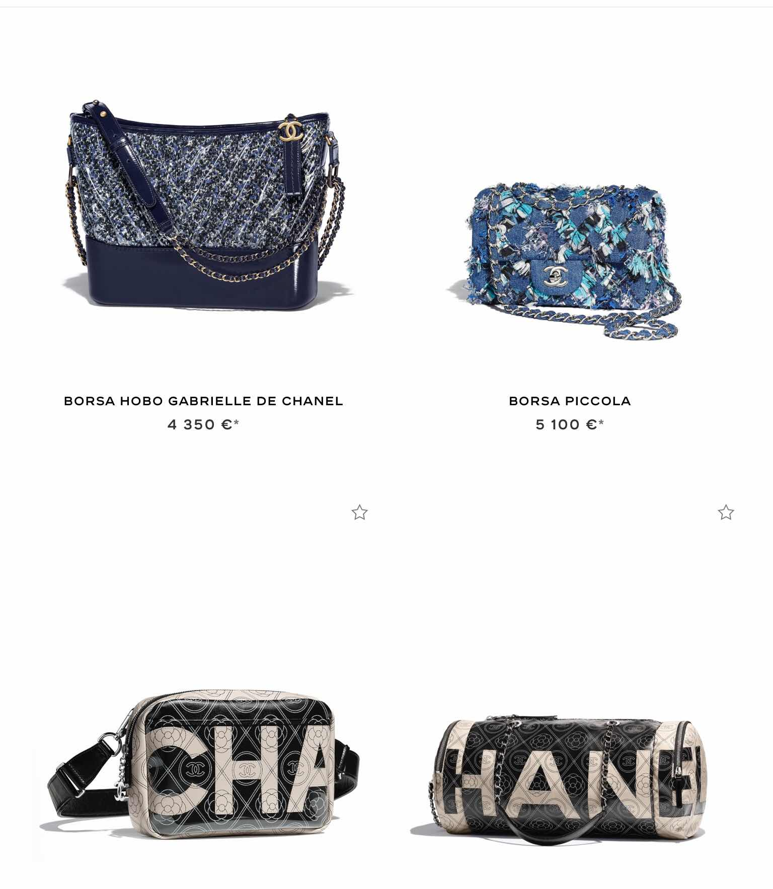 Borse Chanel 2018