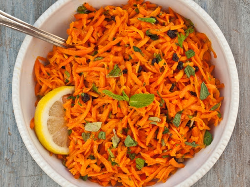 Grated Carrots with Parsley and Lemon