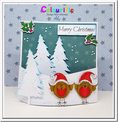 colourific card 25 christmas robins with watermark