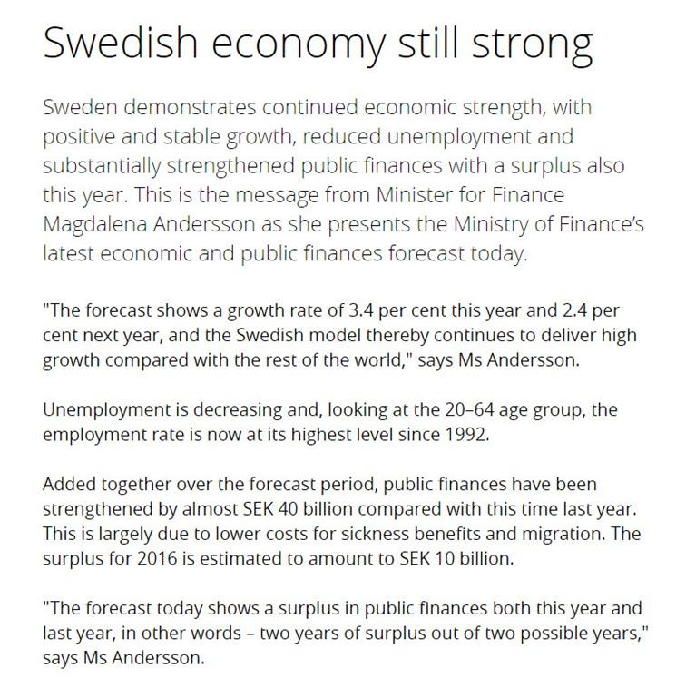 strong Swedish economy