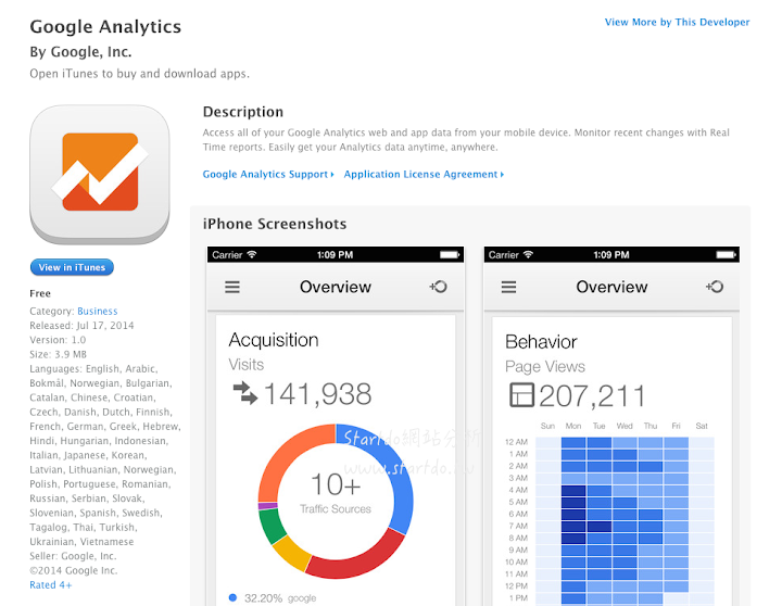 Google 推出 iOS 版本的Google Analytics APP