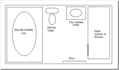 Drawing of before ensuite