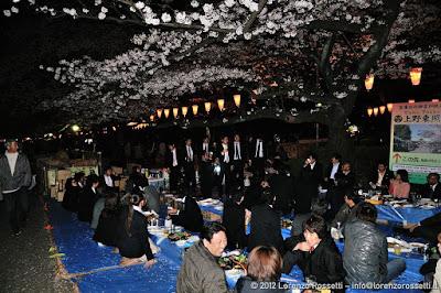 Hanami notturno a Ueno