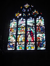 Photo: Some stained glass in the church.