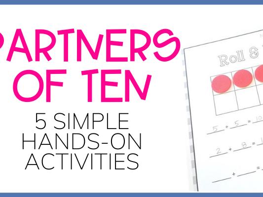 5 Simple & Effective Games to Practice the Partners of Ten