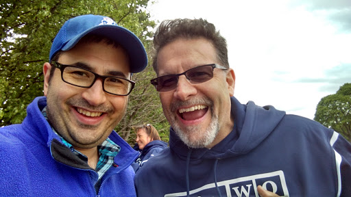 Pastor Gordon and me goofing around!!!