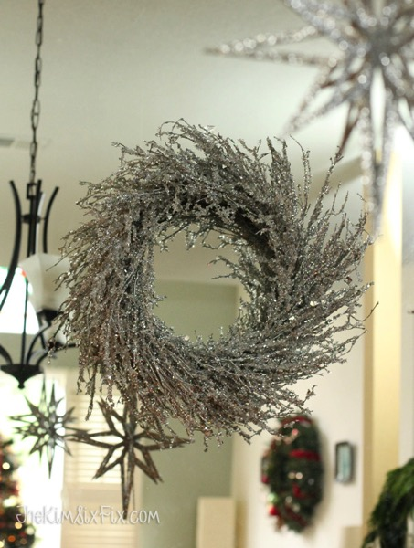 Sparkly Silver Glittered Wreath