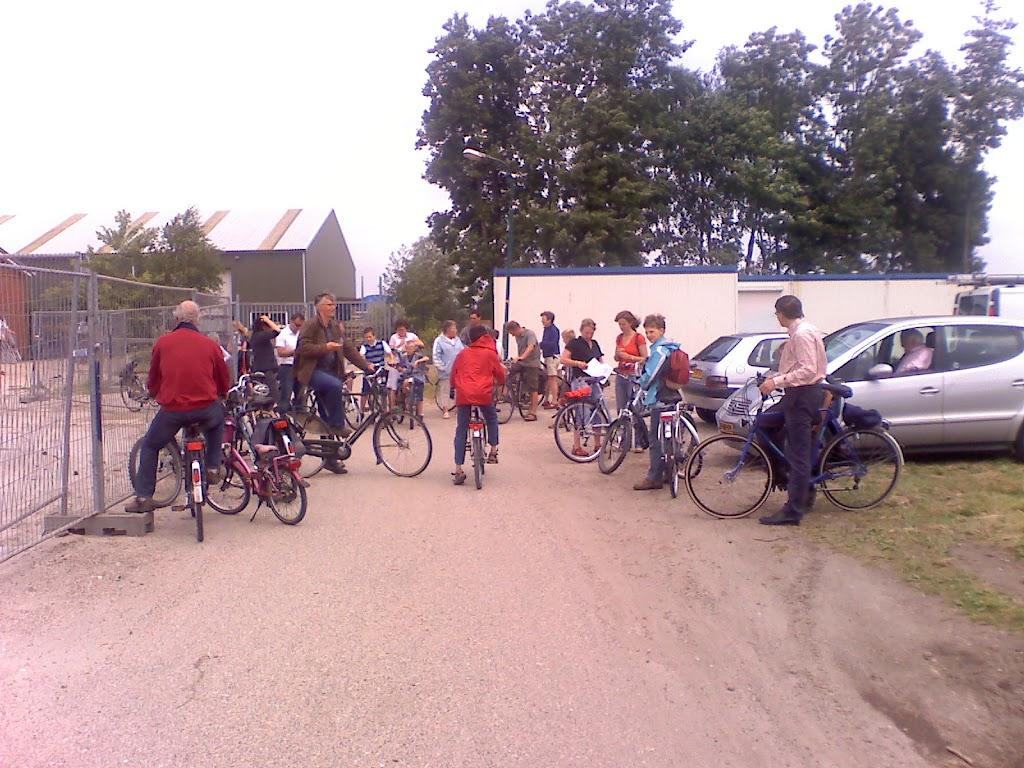 Niet iedereen is met de fiets gekomen!