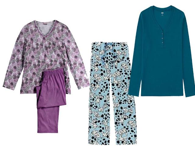 Ladies Pyjama VNeck Long Sleeve Shirt, Pant