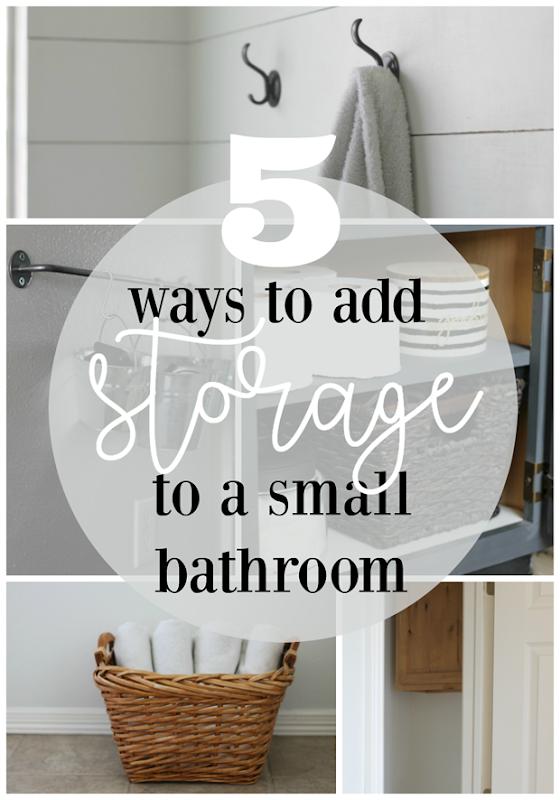 5 Ways to Add Storage to a Small Bathroom