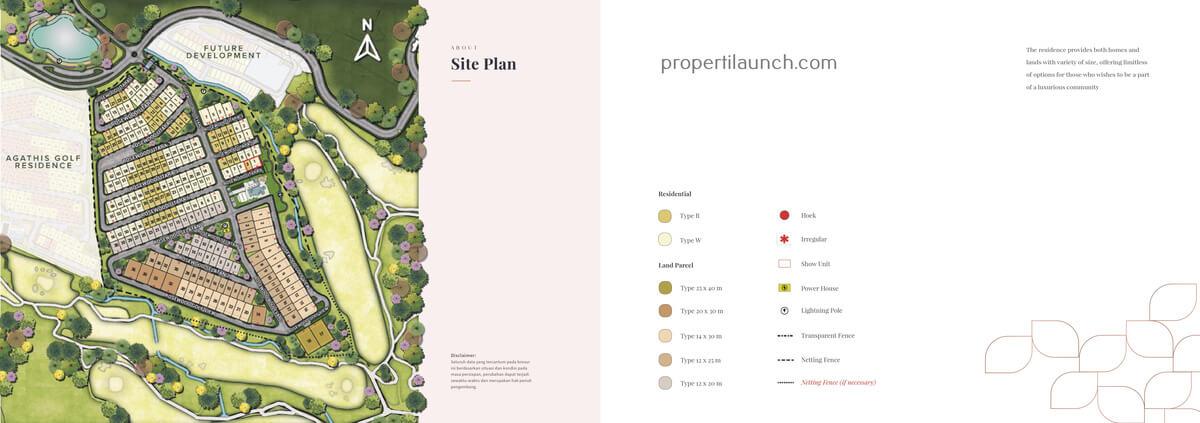 Siteplan Cluster Rosewood Golf Residence Bogor