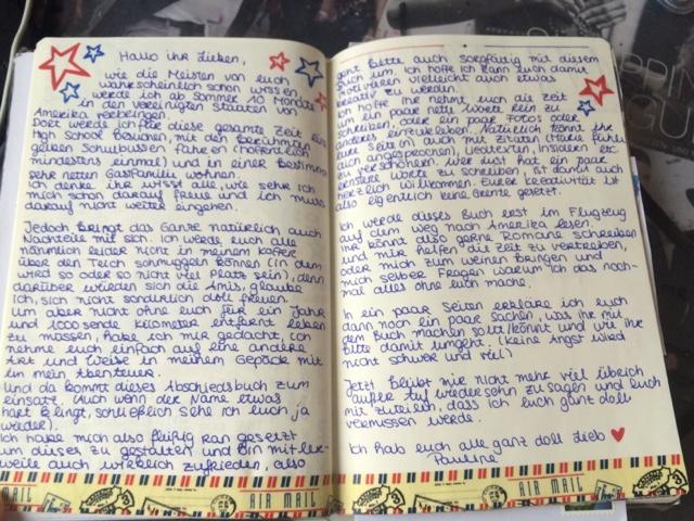 Briefe Für Auslandsjahr : My american dream abschiedsbuch