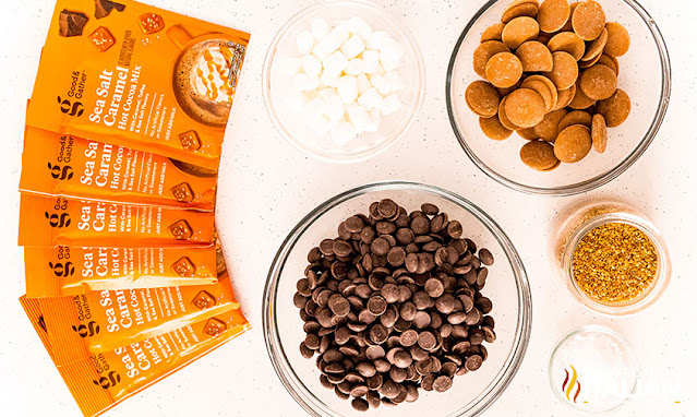 salted caramel hot chocolate bombs ingredients