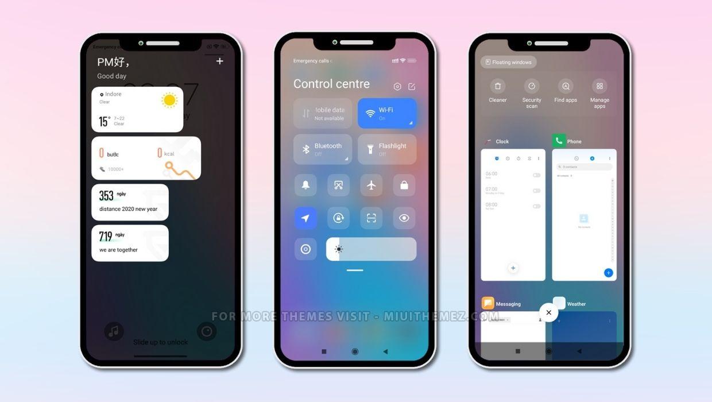 iOS MIUI 12 Theme