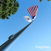 ECS35 Special Budget 35' Satin Aluminum Flagpole With Eagle Ornament. Illinois State Flag