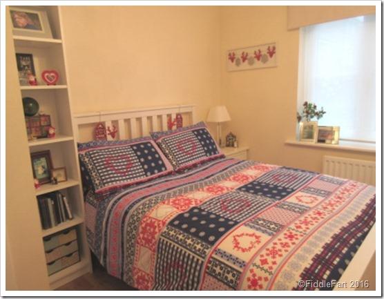 festive bedroom