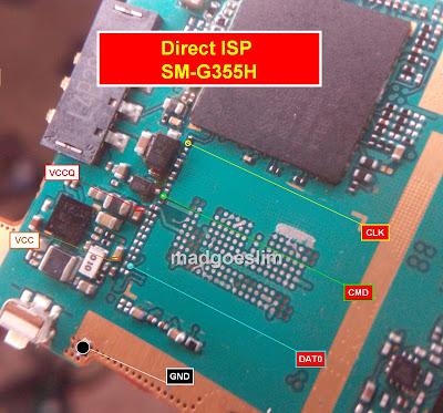 ISP PinOut Samsung SM-G355H