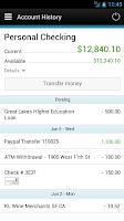 Screenshot of FNB Bank Mobile Banking