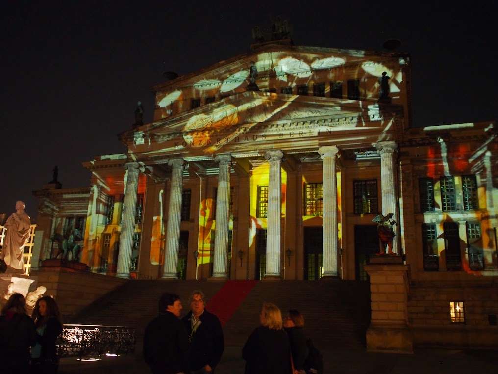 Berlin Konzerthaus light installation