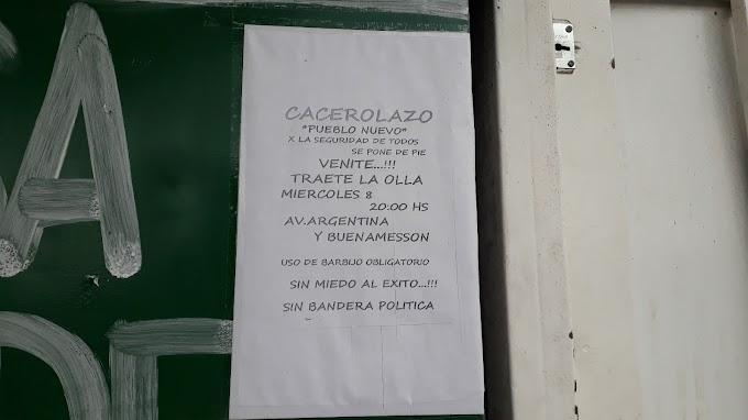 """""""Pueblo Nuevo se pone de Pie por la Seguridad de Todos""""; invitan a un Cacerolazo este miércoles en VGG"""