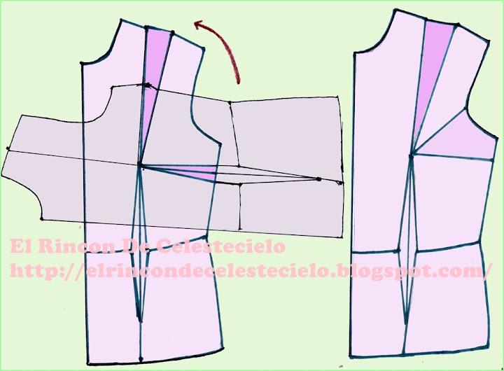 Traslados de la pinza lateral o de costado de busto
