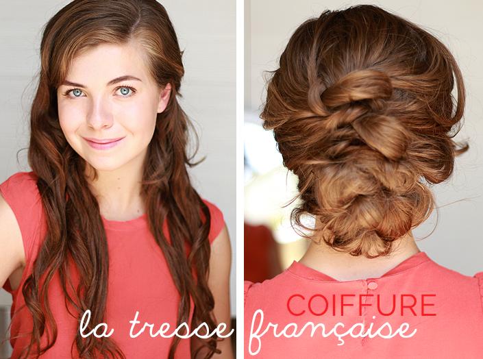 tutoriel tresse française, extensions de cheveux à clips, où acheter des rajouts de cheveux, marque Rubin Extensions, coiffure tressée pour mariage