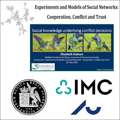 """May 2016: I presented an invited talk at the interdisciplinary symposium """"Experiments and models of social networks"""" in Copenhagen, Denmark."""