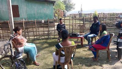 Community meeting in Bajitpara