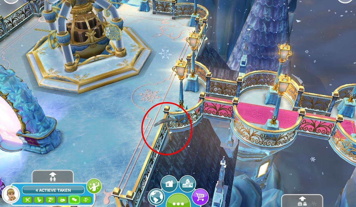 The secret winter wonderland the sims freeplay for Casa de diseno the sims freeplay