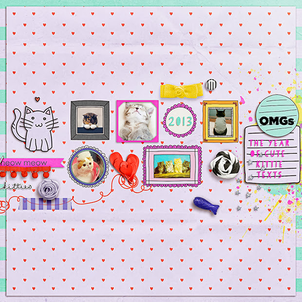 OMGs // 12x12 // Kitteh Love by Lauren Grier