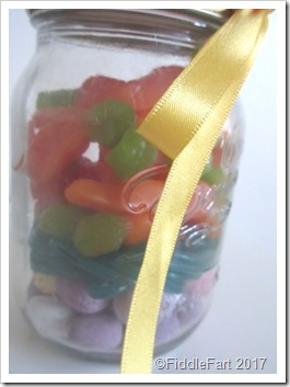 gummy carrots in a jar