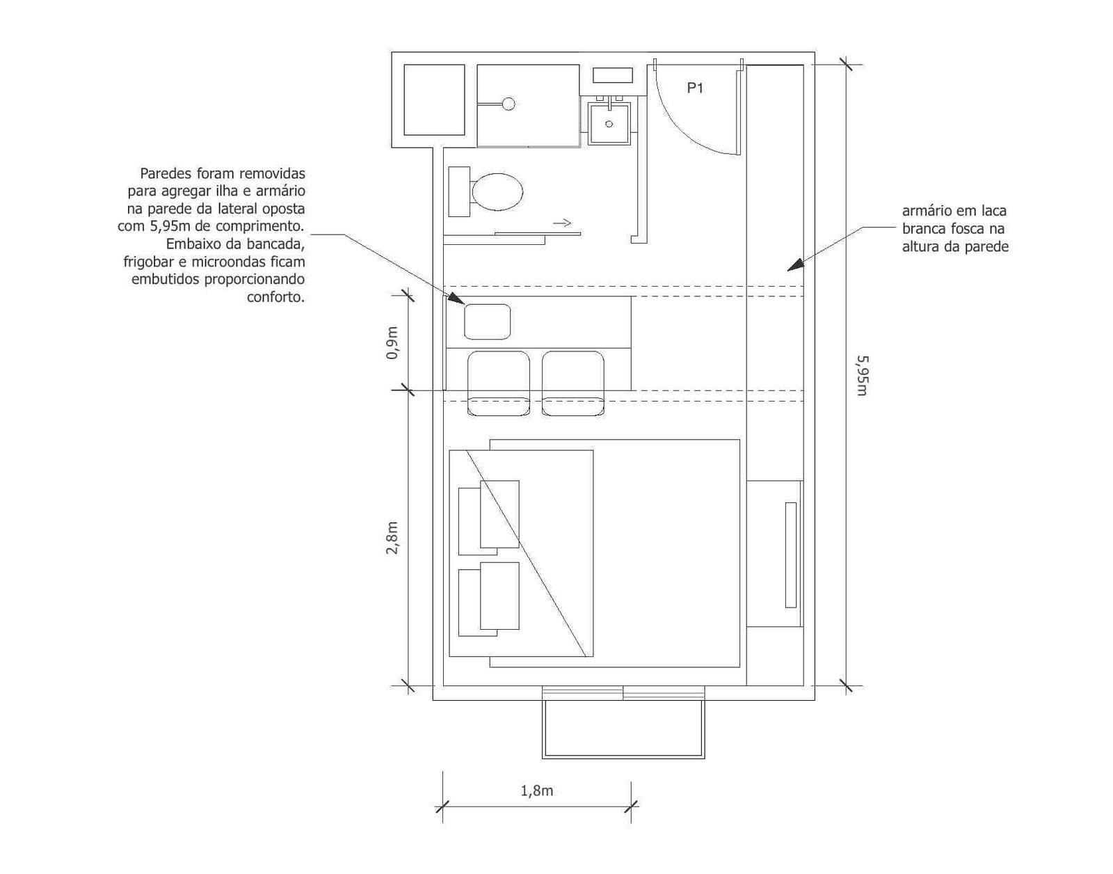 Altura Bancada Pia Cozinha Cozinha Americana Compacta Com Paneleiro