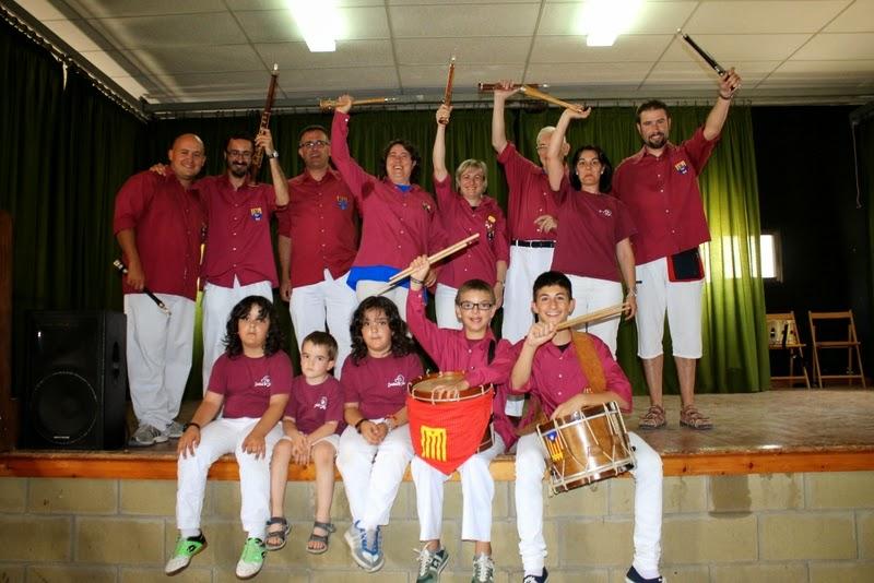 Audició Escola de Gralles i Tabals dels Castellers de Lleida a Alfés  22-06-14 - IMG_2413.JPG