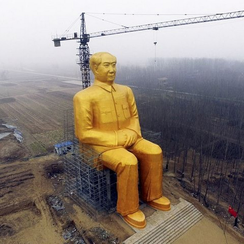 Chinese Village Builds Giant Golden Statue of Mao Zedong
