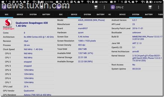 Benchmark Asus Zenfone 3 Max ZC553KL