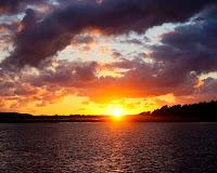 Solnedgang på Orø