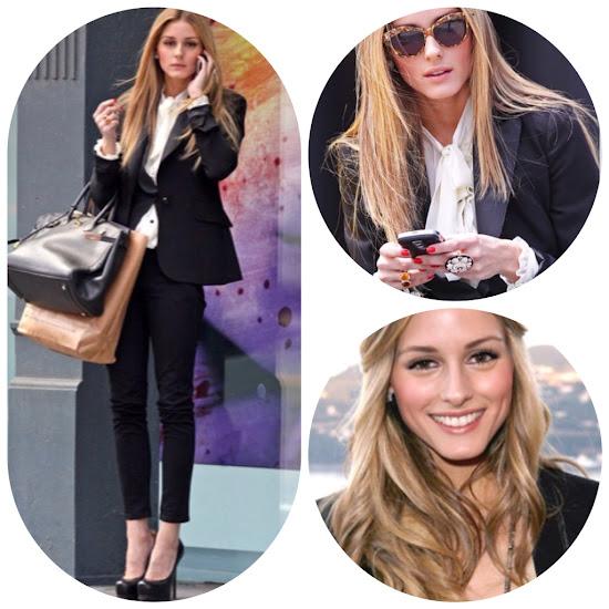 Olivia Palermo Style Fall Fashion Tips White bow tie blouse black and white