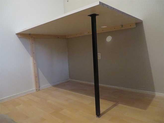 computertafel onder aanzicht - constructie