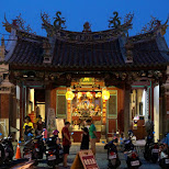 Chinese shrine in downtown Tainan in Tainan, T'ai-nan, Taiwan