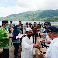 Acara Prosesi Tepung Tawar Pelayaran  Perdana Kapal Roro KMP Bahtera Nusantara 01, Beserta Crew ,oleh Bupati KKA.