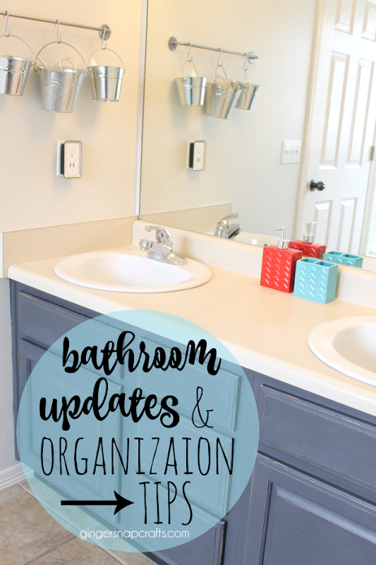 Bathroom Updates & Organization Tips at GingerSnapCrafts.com #organization #tips