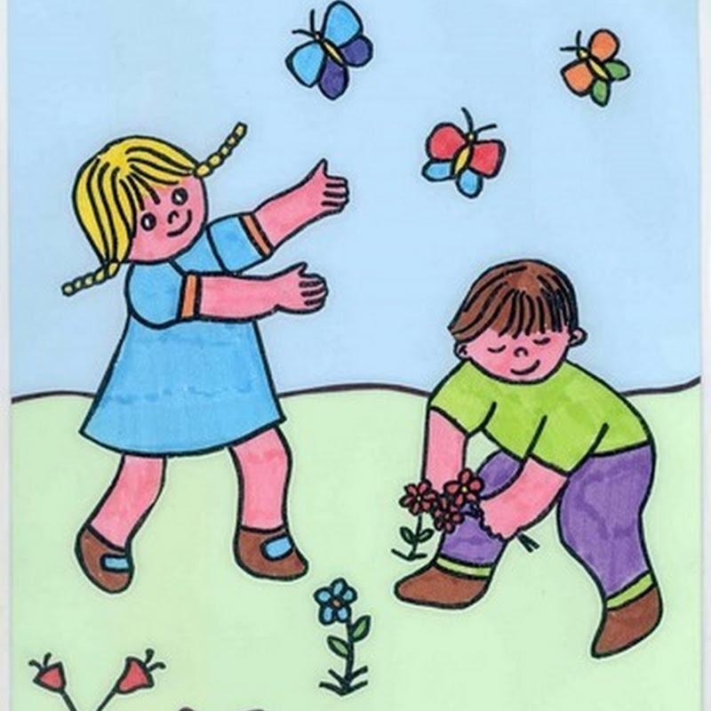 Dibujos para niños mes del mes de  Mayo