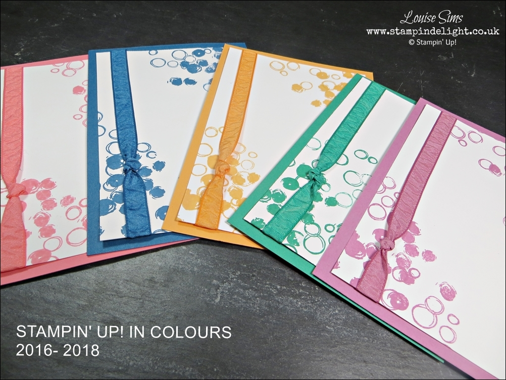 Stampin Up In Colours 2016-2018