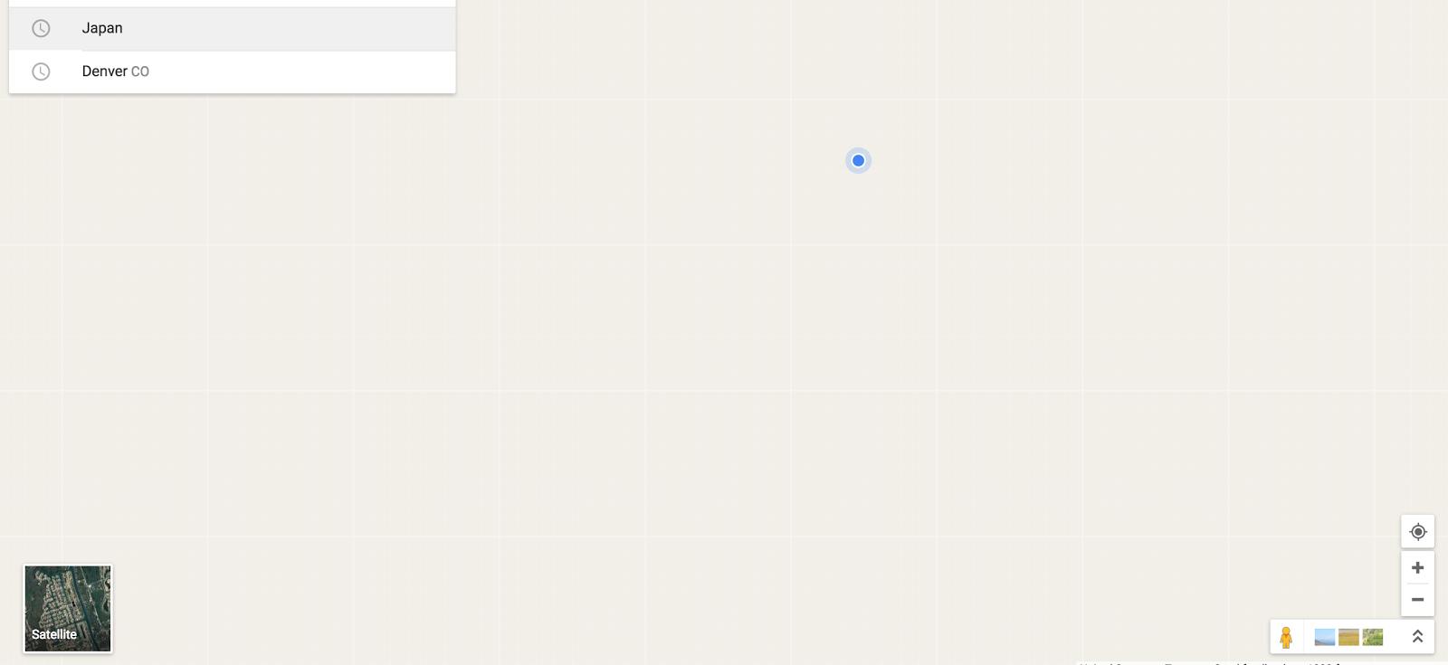 Google Maps on Chrome went blank - Google Maps Help on
