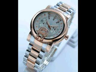 jam tangan Aigner date ring polos chrono variasi silver kombi Rosegold